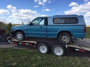 Truck topper on a 1990 b2200 $200 OBO
