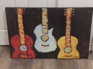 Cool Guitar Painting Print only $40.00