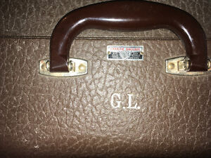 Vintage Christie Suitcase w/ Leather 20 x 15.5 inches