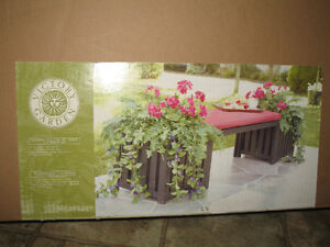 NEW Garden Bench with Planters