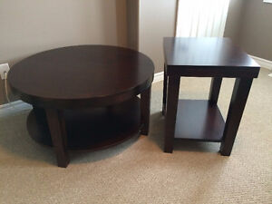 Solid Maple Wood Coffee Table Set