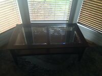 Glass Coffee table and Lamp Stand