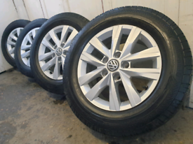 """16"""" vw transporter t5 t6 alloy wheels and tyres"""