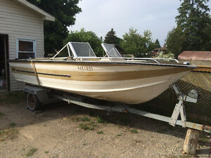Aluminum boat with galvanized trailer for sale