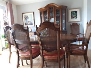 Mobilier salle à dîner en bois de rose