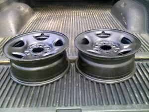 Two (2) 16 inch Chevrolet Pick Up Steel Wheels