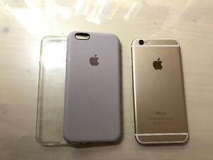 Iphone 6 - gold 64GB with case