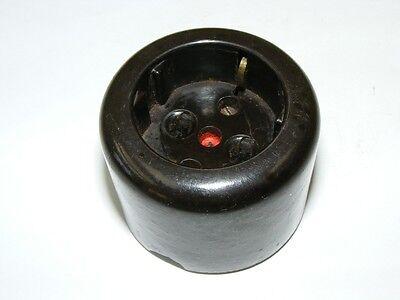 Old Bakelite Socket Exposed Ap round Loft Design Art Decor