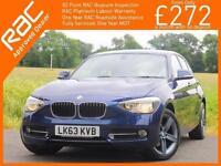 2013 BMW 1 Series 114i 1.6 100 BHP Sport 5 Door 6 Speed Bluetooth DAB Air Con Ju