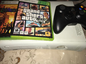 XBOX 360 with controller & two games