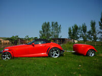 1999 Plymouth Prowler Convertible with rare matching trailer
