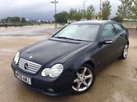 2005 MERCEDES C CLASS COUPE DIESEL SPORT ++ ALLOYS ++ CD ++ ELECTRIC WINDOWS ++ JULY MOT.