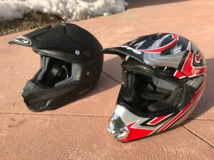 Two ATV/ Dirtbike Helmets for Sale $125