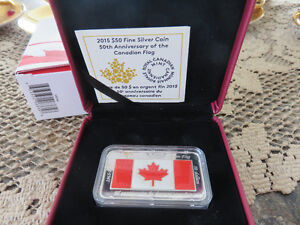 $50 Fine - Silver Coin - 50th An.Canadian Flag Sterling Silver