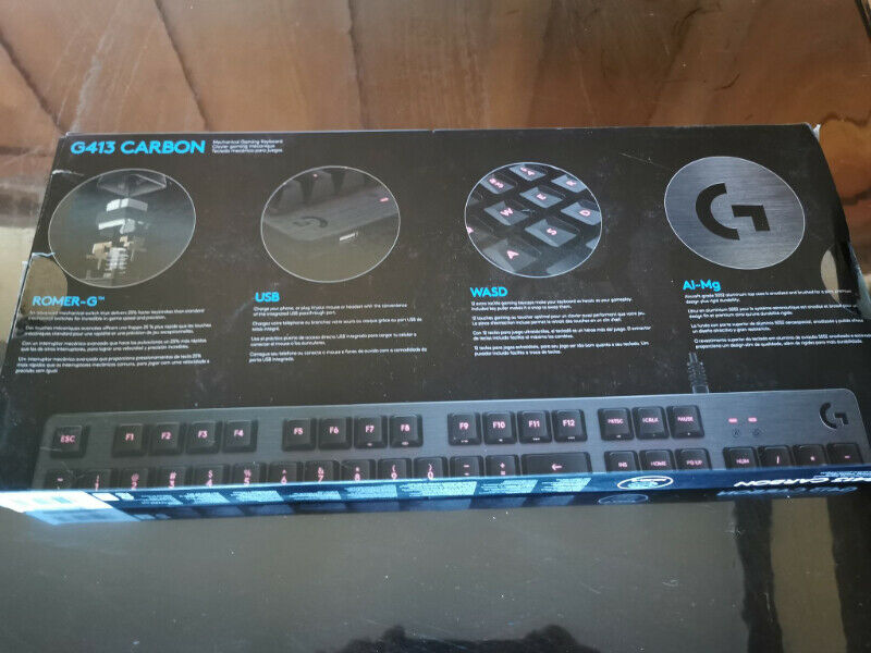 Logitech mechanical keyboard - g413 carbon
