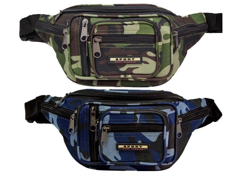 Bauchtasche Camouflage 8x Rv Fächer Gürteltasche Hüfttasche Tarnfarbe Army Sport