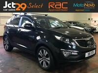 2010 KIA SPORTAGE 2.0 FIRST EDITION 4 WHEEL DRIVE + FINISHED IN COSMIC BLACK WIT