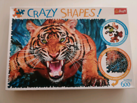 Jigsaw Puzzle, Crazy Shapes Tiger, 600 pieces