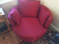 Swivel love seat sofa armchair - great condition