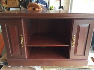 Sauder Cherry TV Stand Corner Unit