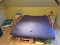 Folding futon bed settee for sale