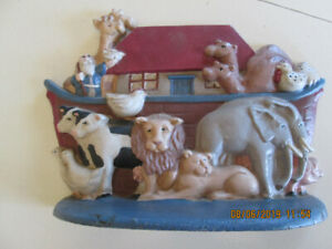 noahs ark cast iron door stopper