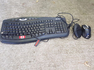 keyboard and wireless mouse