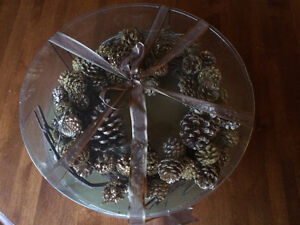 Rustic Pinecone Wreath and Table Centrepiece Cambridge Kitchener Area image 2