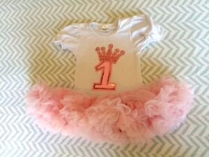 First birthday girl '1' tutu dress - infant