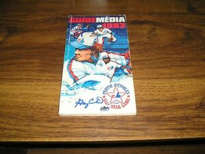 1982 MONTREAL EXPOS AS GAME MEDIA GUIDE w/ GARY CARTER AUTO X3