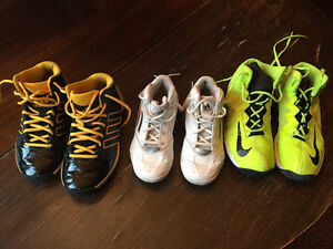 Three Pairs Gently Used Basketball Sneakers