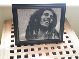Bob Marley completed diamond Painting