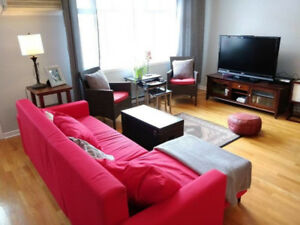 Large fully-furnished 4 1/2 near Berri-UQAM, Jan 1 - June 30