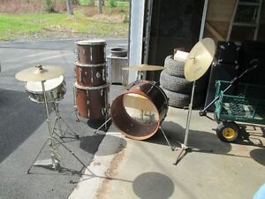 1960's Premier Mahogany drums with 80's Sabian cymbal
