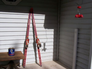 Vintage Skiis and Boots (Great Christmas Decor) For sale