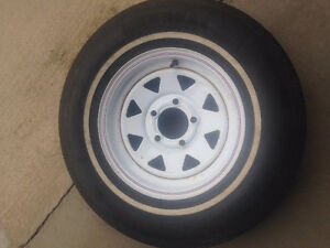 Trailer Tire with Rims 13in