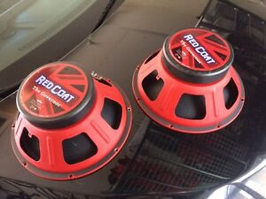 2 Eminence 12 inch Governor Red Coat Speakers