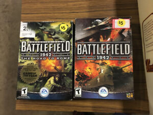 2 big box pc games battlefield and battlefield 1942 road to rome