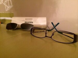 lunette de prescription avec clip pour le soleil