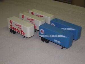 HO Scale Pup transport trailers