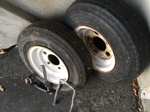 2 roues pour remorque / 2 wheels for trailer Gatineau Ottawa / Gatineau Area image 2