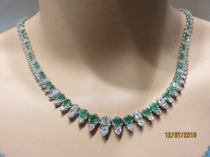 Emerald and Diamond Necklace...Happy Valentine's Day!!!