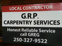 GRP Carpentry booking  NOW ! ...Honest, reliable, professional