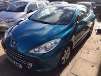 Peugeot 307 CC 2.0 16v 57 registration,Automatic, 2dr 12 months mot £1499