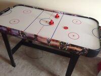 Nearly new air hockey table