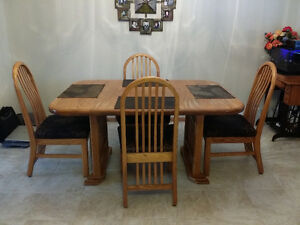 Solid Oak Dining Table-ReDUCED