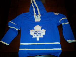 Toronto Maple Leafs Old Time Hockey Blue Lacer Hoodie Jersey - L