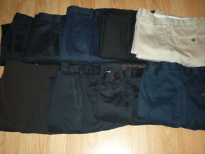 Lot of 9 Pair Mens Pants Size 34