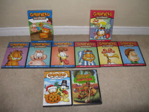 Kids Dvds: Garfield and Scooby-Doo! lot of 7