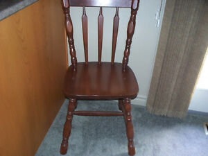 SOLID WOOD SIDE CHAIR WITH SEAT CUSHION Kawartha Lakes Peterborough Area image 2